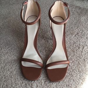 Never worn brown Missguided pumps